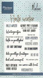 Clear stamps CS1036 - Hallo winter by Marleen (NL)