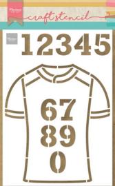 Craft stencil  PS8087 - Team shirt