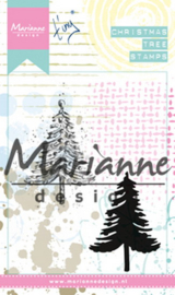 Cling stamp  MM1625 Tiny's Christmas tree