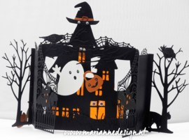 Craft stencil PS8075 Haunted house