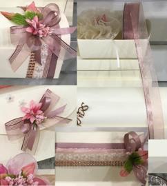 CG1003 Oraganza lint  met Lurex edge - oud roze 23mm