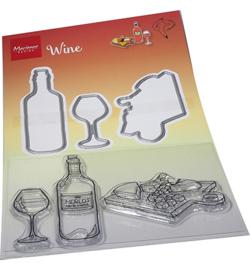 HT1665 Hetty's Wine ( 3 stempels - 3 mallen)