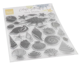 CS1061 Clear stamps - Colorfull Silhouette - Sea Shells