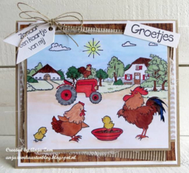 Clear stamps HT1631 Hetty's chicken family