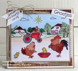 Clear stamps HT1632 Hetty's on the farm