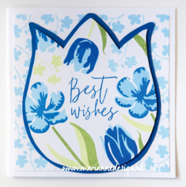 Clear stamps CS1054 -  Colorful Silhouettes Tulips