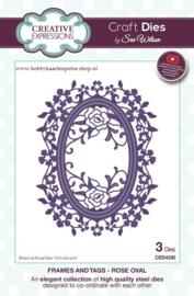 Craft Dies Rose Oval CED4330