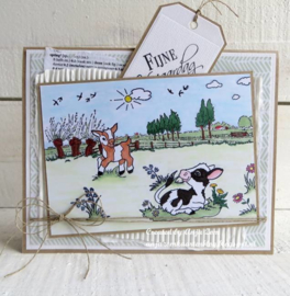 Clear stamps HT1633 Hetty's in the meadow