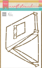 Craft stencil PS8088 - Tent by Marleen