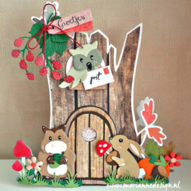 Clear stamps CS1069 Kerst Post by Marleen