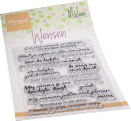 Clear stamps CS1078 - Wensen by Marleen