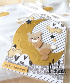 Craftables CR1503 - Dreaming bear by Marleen