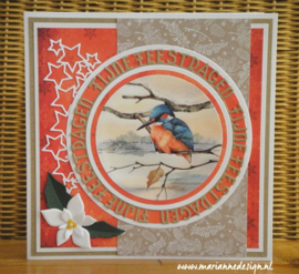 Craftables CR1561 - Fijne Feestdagen cirkel by Marleen