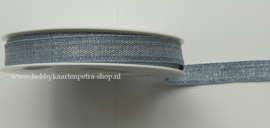 KH1008 Mixed Lurex Ribbon Blue/Silver 15mm
