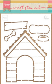 Craft stencil PS8030 Doghouse by Marleen