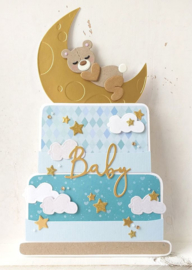 Creatables LR0576 Baby text boy & girl