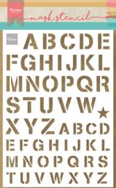 Mask stencil PS8089 - Army alfabet