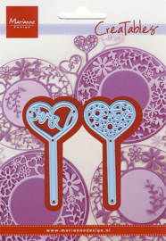 Creatables LR0573 Heart pins (set of 2)