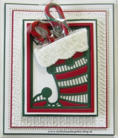 Craft Dies Stocking Gift Card Holder CED3085
