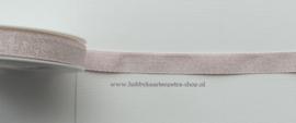 KH1004 Mixed Lurex Ribbon Pale Rose/Silver 15mm