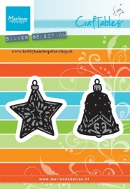 Craftables CR1382 Tiny's ornaments star & Bell