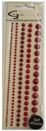 Artikel D110 halve glansparels rood