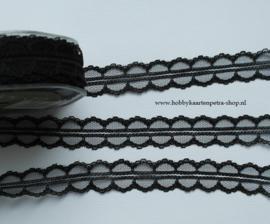 Artikel K1092 zwart Lace  polyester 25mm