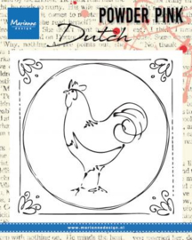 Clear stamp Powder Pink - Dutch rooster PP2805