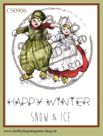 Cling stamps Happy Winter CS0906