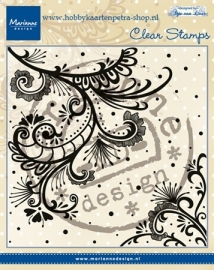 Clear stamps Anja's swirl CS0939