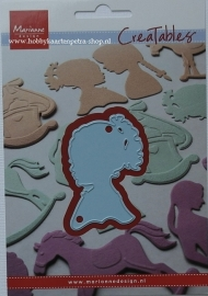 Creatables LR0349 Silhouette girl with ponytail