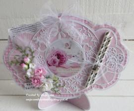 Creatables LR0574 Flower Frame round