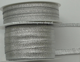 KH1006 Lurex Ribbon zilver 6mm - 10mm