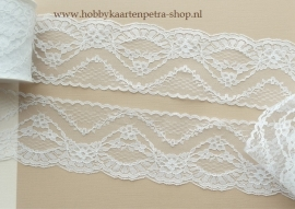 Artikel K1038 lace Flower 75 mm. wit