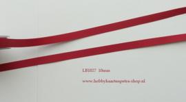 LB1027 Rood satijn lint de luxe 10mm