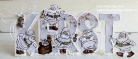 Clear stamps HT1624 Hetty's Santa Clauses