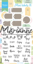 CS1029 - stamps + Dies - Mini labels EN