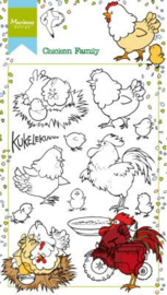 HT1631 Clear stamps - Hetty's chicken family