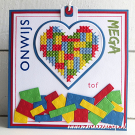Craftables CR1482 cross stitch heart