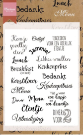 Clear stamps CS1015 menu