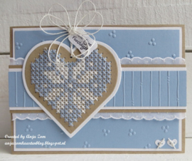 Craftables CR1482 cross stitch heart