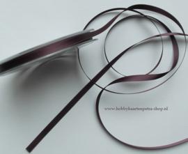 LB1031 Aubergine satijn lint de luxe 10mm