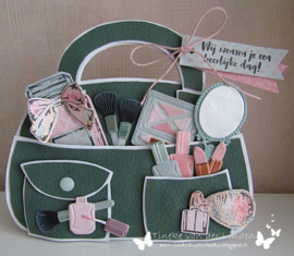 Craft stencil PS8056 - Bag by Marleen