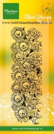 Clear stamps TC0836 Border Sunflowers
