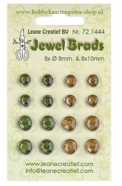 Jewel brads Leane Creatief Moss green/light Gold  Nr. 72.1444