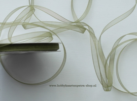 CG1005 organza lint mosgroen 6mm