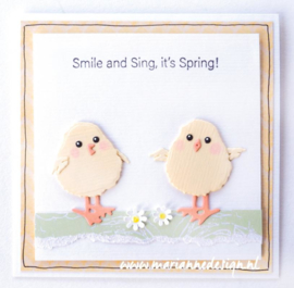 Clear stamps CS1044 - Marleen's Hello Spring & Easter