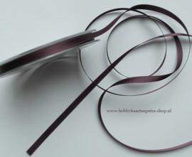 LB1024 Aubergine satijn lint de luxe 6mm