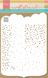 Craft stencil PS8081 - Slimline dots - A4