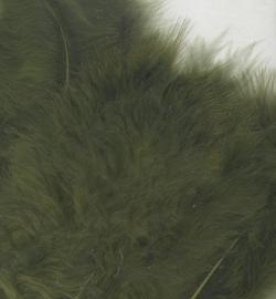 Marabou veertjes olive 2813